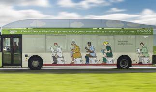 Dieser Bus wird mit Kot betrieben. (Foto)
