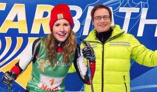 """""""Star Biathlon 2015"""": Das sportliche Show-Event wurde moderiert von Matthias Opdenhövel und Mareile Höppner. (Foto)"""