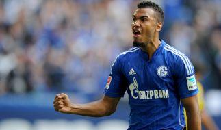 Gewährte unfreiwillig intime Einblicke: Schalke-Star Choupo-Moting. (Foto)