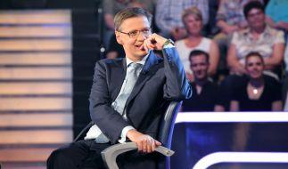 Günther Jauch bringt seine Kandidaten gern ins Wanken. (Foto)