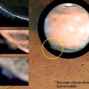 Riesige Mars-Wolken gesichtet (Foto)