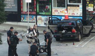 Ein Bombenalarm in der Nähe des Globe Theaters sorgte kurz vor der Oscar-Verleihung für erhöhte Alarmbereitschaft. (Foto)