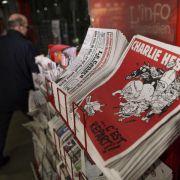 Millionenauflage von neuem «Charlie-Hebdo»-Heft am Kiosk (Foto)