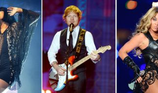 Lilly Allen, Ed Sheeran und Beyonce (von links) dürfen sich am 25.02.2015 Hoffnung auf einen Brit Award machen. (Foto)