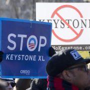 Obama bremst Bau der Öl-Pipeline Keystone XL mit Veto (Foto)