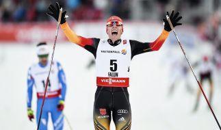 Kann Johannes Rydzek am Samstag beim Teamsprint in der nordischen Kombination erneut jubeln? (Foto)