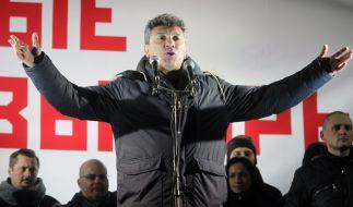 Putin-Gegner Boris Nemzow wurde am Freitag vor dem Kreml erschossen. (Foto)
