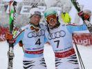 Ski alpin Weltcup 2015 in Garmisch-Partenkirchen: Fritz Dopfer (links) und Felix Neureuther hatten Heimspiel. (Foto)