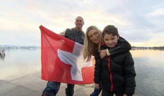 Schweiz: Chris Kühn, Anastasia Hirsch und Sohn Angelo. (Foto)