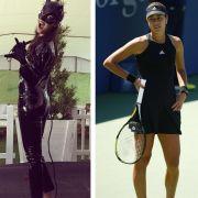 Krasse Verwandlung: Tennis-Star in Lack und Leder (Foto)