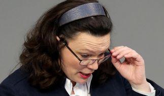 SPD-Linke Nahles rückt von Vermögensteuer ab (Foto)