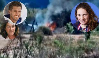 Bei einem Helikopter-Absturz sind zehn Promis getötet worden. Darunter Olympiasiegerin und Schwimmerin Camille Muffat (r.), Boxer Alexis Vastine und Seglerin Florence Arthaud. (Foto)