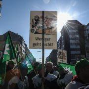 Warnstreiks im öffentlichen Dienst: 37 000 auf der Straße (Foto)