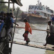Wohl mehr als 50 Tote bei Fährunglück in Myanmar (Foto)