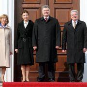 Gauck empfängt Poroschenko (Foto)