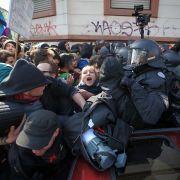 Brutale Gewalt bei Blockupy-Protesten - 200 Verletzte (Foto)