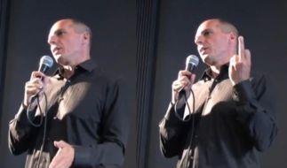 Die Mittelfinger-Geste von Yanis Varoufakis sorgte für einen Skandal. (Foto)