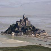 «Jahrhundert-Tide» am Mont-Saint-Michel (Foto)