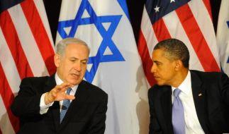 Streit um Palästinenserstaat: Obama weist Netanjahu zurecht (Foto)