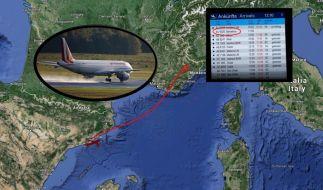 Die Germanwings-Maschine mit der Flugnummer 4U9525 ist auf dem Weg von Barcelona nach Düsseldorf im Département Alpes-de-Haute-Provence abgestürzt. (Foto)