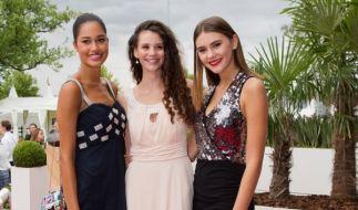 Die ehemaligen Germany's-Next-Topmodel-Kandidatinnen Lovelyn Enebechi (1,78 m), Betty Taube (1,76 m) und Stefanie Giesinger (1,78 m). (Foto)