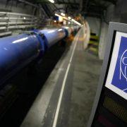 Kurzschluss verzögert Neustart der «Weltmaschine» (Foto)