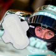 Nico Rosberg nutzt Damenbinden (Foto)