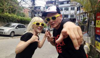 Bernhard Weber alias MC Gringo will mit seiner Bandkollegin in Brasilien musikalisch durchstarten. (Foto)