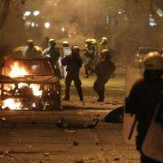 Autonome wüten im Zentrum Athens (Foto)