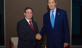 Historisches Außenminster-Treffen der USA und Kubas (Foto)