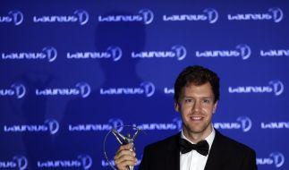 Im vergangenen Jahr erhielt Sebastian Vettel den Laureus Award als Weltsportler des Jahres. (Foto)