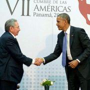 Obama und Castro reichen sich die Hand (Foto)