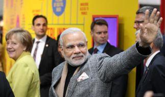 Auftakt der Hannover Messe mit Rundgang von Merkel und Modi (Foto)