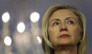 Hillary Clintons Wahlkampflogo wird verspottet. (Foto)
