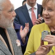 Merkel und Modi in der Hightech-Welt Hannover Messe (Foto)