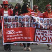 Entführte nigerianische Mädchen ein Jahr spurlos verschwunden (Foto)