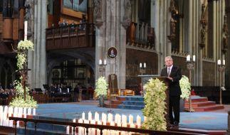 Bundespräsident Joachim Gauck bei der Trauerfeier für die Opfer der Germanwings-Katastrophe im Kölner Dom. (Foto)