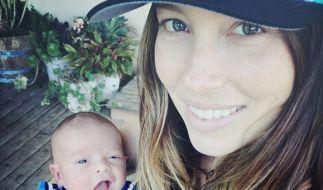 Dieses süße Foto von Jessica Biel und seinem Sohn Silas postete Sänger Justin Timberlake nun auf Instagram. (Foto)