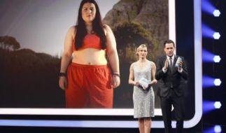 """Christine Theiss und Matthias Killing moderieren das Finale von """"The Biggest Loser"""" 2015. (Foto)"""