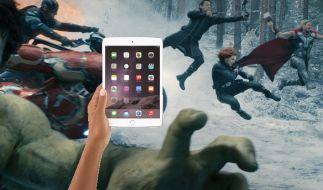 Auch die Avengers wollen unseren Hauptpreis haben: ein iPad mini von Apple. (Foto)