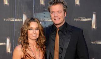 Oliver Geissen mit seiner Frau Christina Plate auf dem roten Teppich. (Foto)