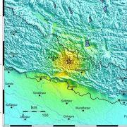 Schweres Erdbeben der Stärke 7,5 in Nepal (Foto)