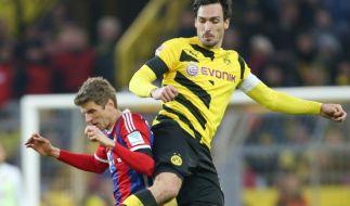 Müller und Hummels: In der Nationalelf Seite an Seite, um DFB-Pokal-Halbfinale Gegner. (Foto)
