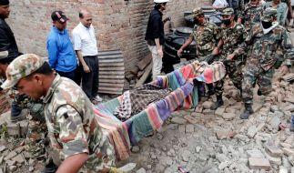 Das Erdbeben der Stärke 7,8 hatte am Samstag große Teile Nepals sowie die angrenzenden Länder Indien und das chinesische Tibet getroffen. (Foto)