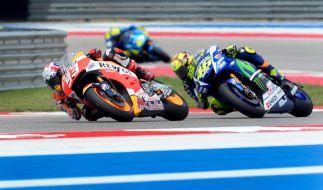 Beim Großen Preis von Spanien in Jerez 2015 geht das MotoGP-Duell zwischen Marc Marquez und Valentino Rossi weiter. (Foto)