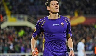 Mario Gomez peilt mit seinem AC Florenz heute Abend das Finale der Europa League an. (Foto)