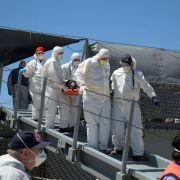 Bundeswehr bringt Schiffbrüchige nach Italien (Foto)