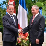 François Hollande trifft Castro-Brüder (Foto)