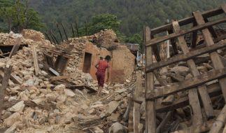 Gewaltiges Nachbeben erschüttert Nepal. (Foto)