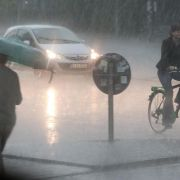 Gewitter ziehen über Deutschland hinweg (Foto)